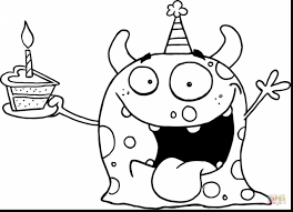 remarkable cute monster coloring pages with cookie monster