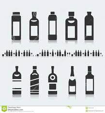 alcohol vector set of symbols bottle alcohol stock vector image 44611918