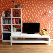 ikea lack tv unit and billy bookcases in white in woking surrey