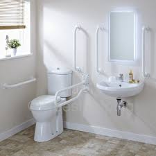 trueshopping white ceramic doc m pack disabled bathroom suite with