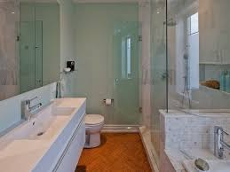 how to design a long narrow bathroom so that more efficient and
