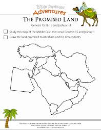 bible worksheet the promised land promised land worksheets and