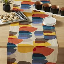 table runner shirley colorful table runner in table linens reviews cb2