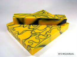 black and yellow ribbon exoticblanks