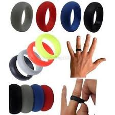rubber wedding rings fashion mens boy rubber silicone wedding ring band