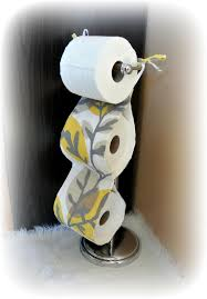 fabric toilet paper holder yellow u0026 grey bathroom accessories