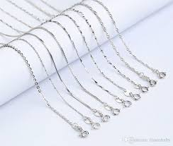 sterling silver necklace wholesale images 2018 wholesale 40cm 925 sterling silver necklaces slim thin snake jpg