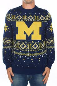 Halloween Usa Michigan Men U0027s University Of Michigan Sweater Tipsy Elves