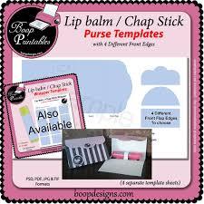 lip balm chap stick purse template by boop printables