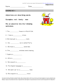 Adjectives And Adverbs Worksheet Worksheet Exercises In Adjectives Wosenly Free Worksheet