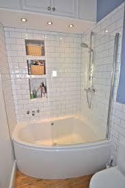 One Piece Bathtub Wall Surround Small Corner Tub Shower Combo Smart And Pleasant Bathroom Design