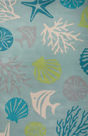 Cottage Rugs Jaipur Coastal Seaside Aquarium Blue Green Cos32 Area Rug Free