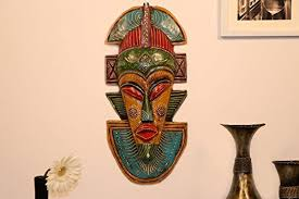 Decorating Items For Living Room by Cocovey Home Decor Items Tribal Rajasthani Wall Mask For Living