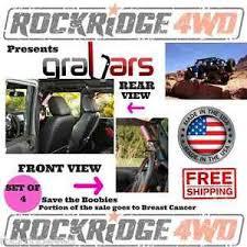 jeep wrangler grips grabars for jeep wrangler jku 4 door 07 15 front back set w