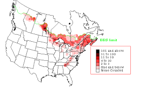 map of southeast canada canada warbler great lakes bird conservation