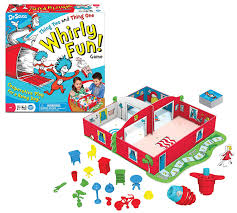 amazon com dr seuss thing two thing one whirly fun game toys