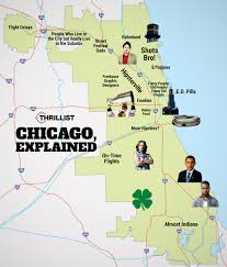 Evanston Illinois Map by Chicago Neighborhood Stereotypes Infographic Thrillist