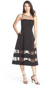 aidan mattox illusion skirt fit u0026 flare dress available at