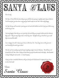 6 best images of letter from santa printable editable letter