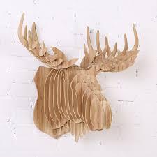Moose Head Decor Buy 3d Moose Head European Pastoral Wooden Home Decorations Nodic