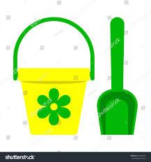 bucket spade concept modern design sign stock vector 404276005