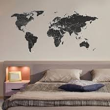 Large Wall World Map by Black Labelled World Map Wall Stickers Wall Sticker Walls And