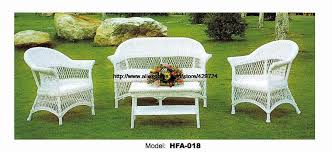 Vine Chair Elegant White Rattan Chair Table Sofa Set Garden Park Cafe