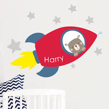 rocket name fabric wall stickers by littleprints rocket name fabric wall stickers