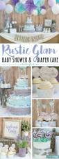 rustic glam baby shower plus make a diaper cake