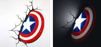 captain america shield light target captain america wall decal at home and interior design ideas