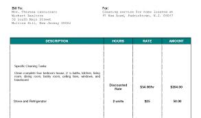 landscaping bill template and cleaning invoice template uk invoice