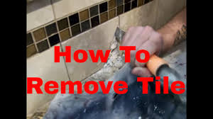 how to remove a tile in a kicthen backsplash complete repair
