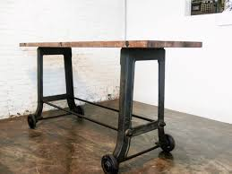 bar height table legs wood image of industrial table legs with wheels rustic beer club