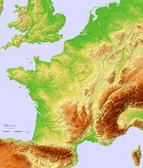 Topographic Map Of The World by Topographic Hillshade Map Of France 2370 2784 Mapporn