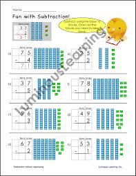 grade 2 subtraction printable workbook u2013 luminous learning