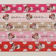 mickey ribbon mixed minnie ribbon set 1 25mm 5 color mickey mouse