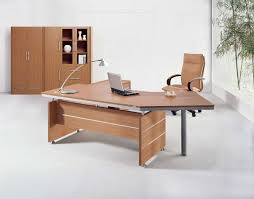 Curved Office Desk Furniture Executive Brown Wood Office Table Desks Furniture Design Ideas For