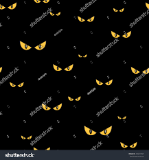 halloween cat eyes background strange scary eyes dark halloween seamless stock vector 456619747