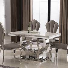 stainless steel dining table marble dining table bergamot