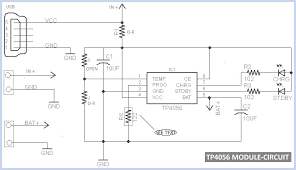 tp4056 micro usb battery charger circuit diagram