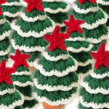 mini tree free crochet pattern decorations
