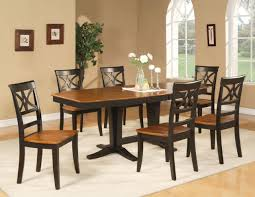 Dining Room  Elegant Rectangular Black Kitchen Table With Wood - Black dining table with wood top
