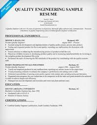 Sample Resume For 10 Years Experience by Download Certified Quality Engineer Sample Resume