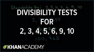divisibility tests for 2 3 4 5 6 9 10 factors and