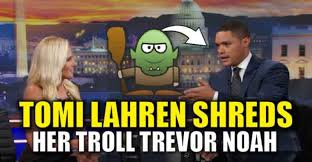 Trevor Noah Memes - video tomi lahren confronts her troll trevor noah and shreds him