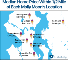 seattle map location seattle home prices by proximity to fantastic estately