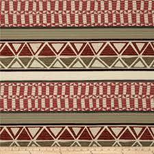 robert allen promo tahoe stripe chenille red earth discount