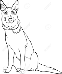 german shepherd coloring pages to download and print for free