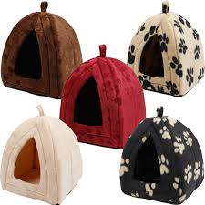 Dog Igloos Atuo Pet Bed Igloo Style Hut Beige Paw