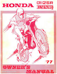 1977 honda cr125m elsinore motorcycle service u0026 owners manual